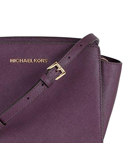 30T3GLMM2L Michael Michael Kors Borsa Donna Borsa messenger Selma media in  pelle Saffiano Mod. 6433e6fd068