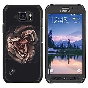 Caucho caso de Shell duro de la cubierta de accesorios de protección BY RAYDREAMMM - Samsung Galaxy S6Active Active G890A - Significado Oscuro Profundo Negro Vignette