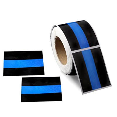 250 LEO Law Enforcement Rectangle Blue Line Stickers (250 Stickers): Arts, Crafts & Sewing
