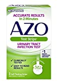 AZO Urinary Tract Infection Test Strips, 3-Count Boxes (Pack of 2)(Packaging may vary)