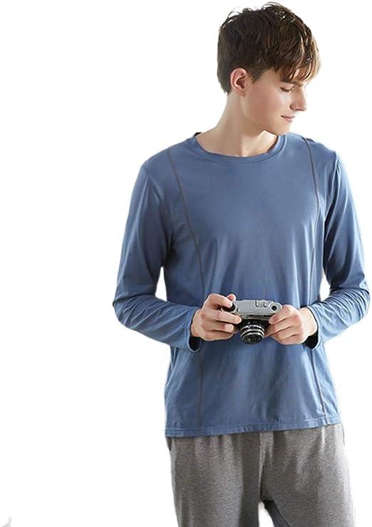 WX-ICZY Hombre en Pijamas de algodón, Ocasional Moderno Tops ...