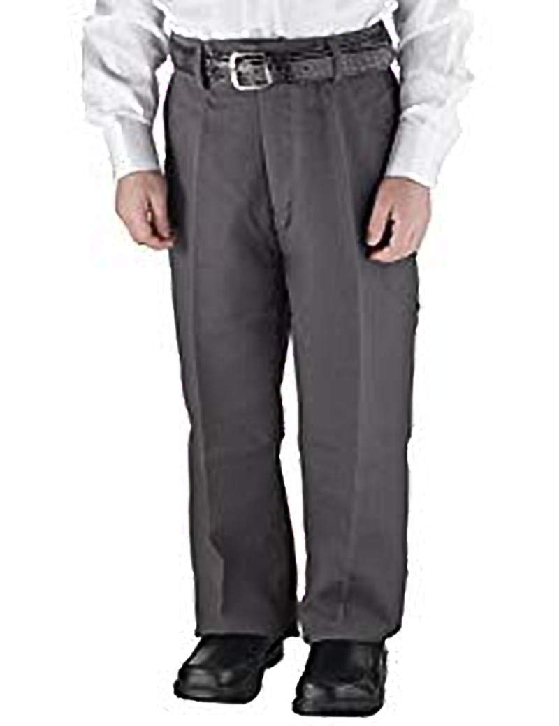 Victorio Cuture Solid Belted Flat Front Slim Fit Boys Dress Pants (Gray, 14)