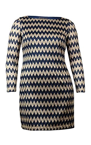 Jessica Howard PETITE CHEVRON-PRINT SWEATER D NAVYGOLD 10P