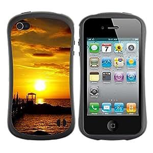 "Hypernova Slim Fit Dual Barniz Protector Caso Case Funda Para Apple iPhone 4 / iPhone 4S [Seaside Sunset""]"
