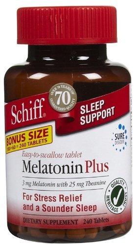 Amazon.com: SCHIFF VITAMINS MELATONIN PLUS TABLETS, 180 TAB by ...