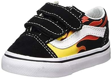 Amazon.com | Vans Toddler Flame Old Skool V Skate Shoe | Skateboarding