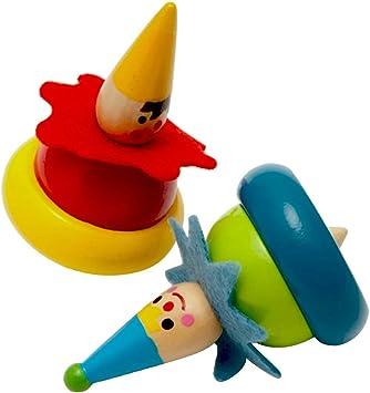 Toyvian 2 Piezas de Madera Spinning Tops Peg-Top Juguetes para ...