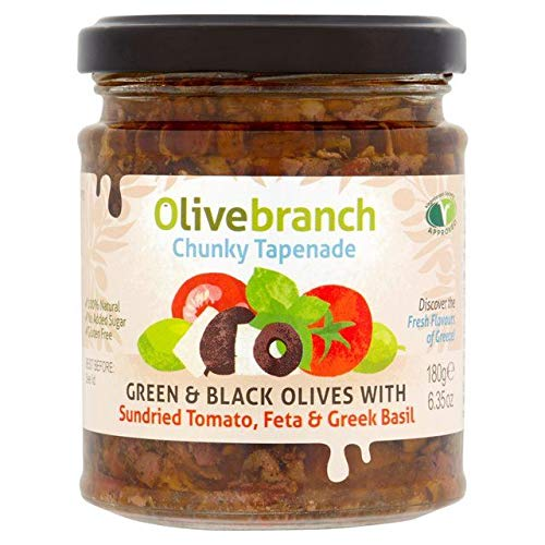 Olive Branch Olive Tapenade with Sundried Tomato, Feta & Greek Basil 180g