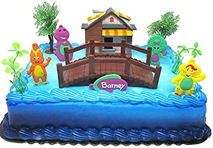 Fabulous Amazon Com Barney Birthday Cake Topper Set Featuring Barney And Personalised Birthday Cards Cominlily Jamesorg
