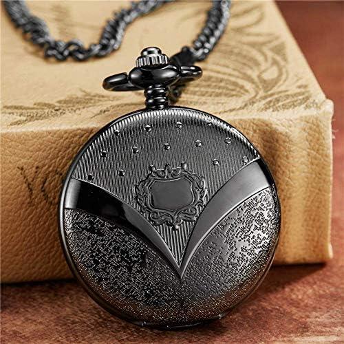 YXZQ懐中時計、ユニークな彫刻ブロンズローマダイヤル機械式FOBチェーン滑らかな手風機械式メンズレディース腕時計
