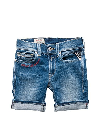 Replay Regular Fit Boy's Denim Shorts in Size 6 Years Blue by Replay