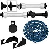 Fotodiox Single-Roller Roll Paper Drive set with Wall Mount Support for Mounting 1x Paper Background Roll