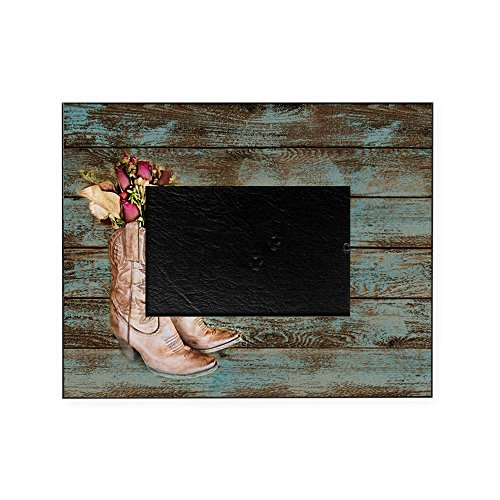 Cowboy Boot Frame (CafePress - Modern Cowboy Boots Barn Wood - Decorative 8x10 Picture)