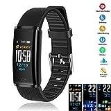 LETTURE Smartwatch Pulsera Inteligente, Reloj Inteligente Deportivo Bluetooth Smart Watch Multifuncional Monitor de Actividad Rastreador de Fitness IP68 Impermeable para Hombres, Mujeres