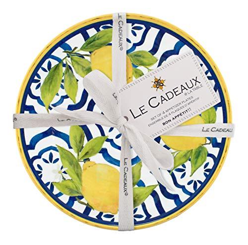 Le Cadeaux Palermo Melamine Appetizer Plates, (Set of 4)