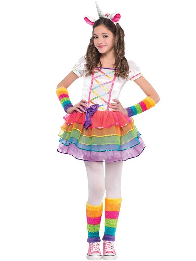 a7eafd54c62b5 Rainbow Unicorn Girls Fancy Dress Fairy Tale Book Day Animal Kids Childs  Costume (Age 3-4 Years): Amscan: Amazon.co.uk: Toys & Games