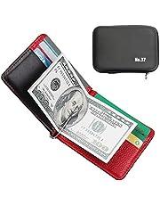 Carteras de Bifold Cartera de Tarjeta de Crédito Billetera de Cuero con Money Clip para Mujer