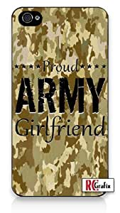 Military Proud Army Girlfriend Digital Camo Tan Camouflage Iphone 5 Quality TPU SOFT RUBBER Snap On Case for Iphone 5 - AT&T Sprint Verizon - White Case by icecream design