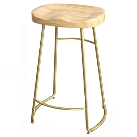 Excellent Amazon Com Qidi Bar Stool Vintage Metal Solid Wood Seat Gmtry Best Dining Table And Chair Ideas Images Gmtryco
