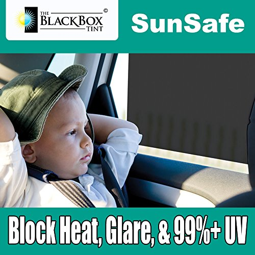 - Black Box SunSafe Car Sun Shade Film - Skin Cancer Foundation Recommend Heat Glare 99%+ UV Rejection (2 films per pack, size 11.5 inch by 19 inch each)