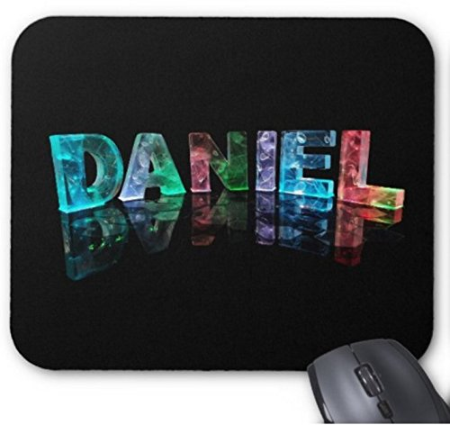 The Name Daniel in 3D Lights (Photograph) Office Accessories Natural Rubber Mouse pad 9.84 x 11.8 inch 941 Natural