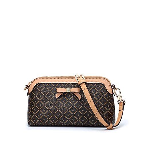 Sac féminin Sac à bandoulière de style européen et américain des femmes impression PVC avec sac à main PU Messenger Bag Red