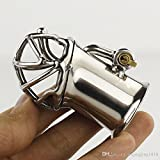 Teriya New Arrival PA Lock Male Chastity Cage Stainless Steel Chastity Device Sex Toys For Men Bondage Chastity Belt
