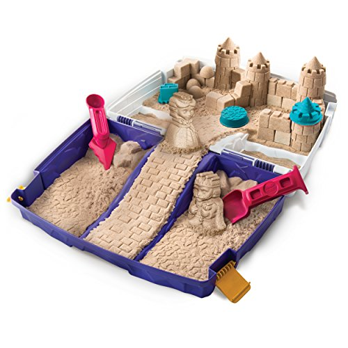 51h2iscFU3L - The One and Only Kinetic Sand, Folding Sand Box with 2lbs of Kinetic Sand