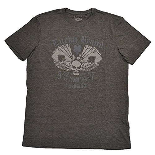 Lucky Brand Mens ''To Tough To Die'' Los Angelas Grey T-Shirt (XXL)