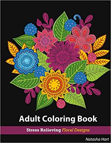 Amazon Flowers Designs Coloring Book Adult For Relaxation Stress Relieving Patterns Books