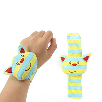 Gbell Baby Rattles Hand Wrist Toys - Snail Bee Cat Animal Handbells Soft Stuffed Toys Preschool Educational Developmental Toys for Infants Babies Girl Boy 0-3 Year Old,1Pcs/2Pcs (1 Pcs): Sports & Outdoors
