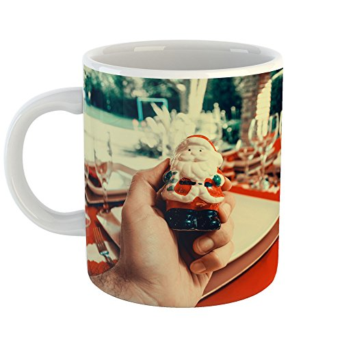 Ceramic Man Holding Figurine Cup (Westlake Art - Christmas Decoration - 11oz Coffee Cup Mug - Modern Picture Photography Artwork Home Office Birthday Gift - 11 Ounce (216B-78A3F))