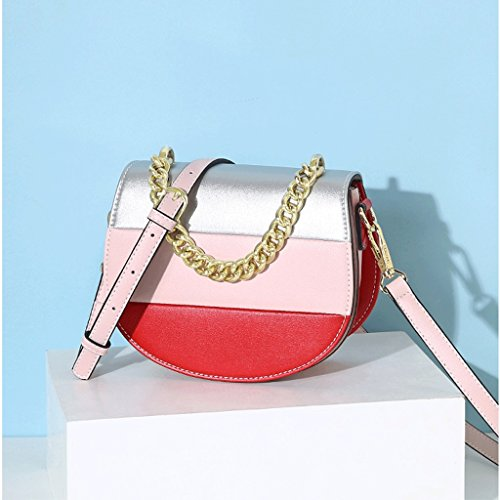 Color Shoulder Fashion Single Personality Bag Woman Bag The package Of Bag Inclined Version JIUTE Collision Shoulder A Saddle Korean Trend 8AwgCqOax