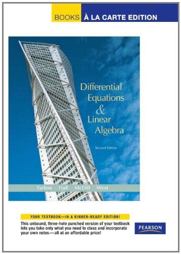 Differential Equations and Linear Algebra, Books a la Carte Edition (2nd Edition)