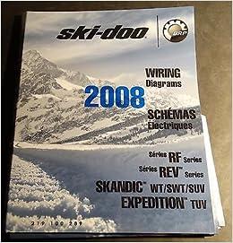 2008 ski-doo snowmobile wiring diagrams rf, rev, skandic, expedition  models: ski-doo: amazon com: books