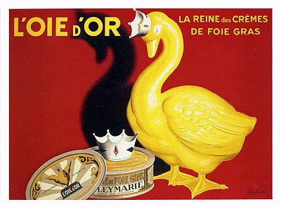 L'oie D'or (Foie Gras) by Leonetto Cappiello. Vintage Advertising Reproduction Poster (33 x 24)