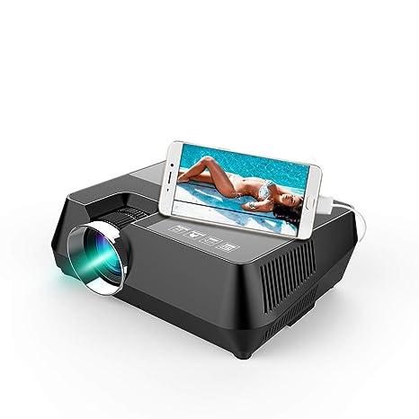 Zach-8 Mini Proyector, 60W 4.0 Pulgadas LCD Multimedia Proyector ...