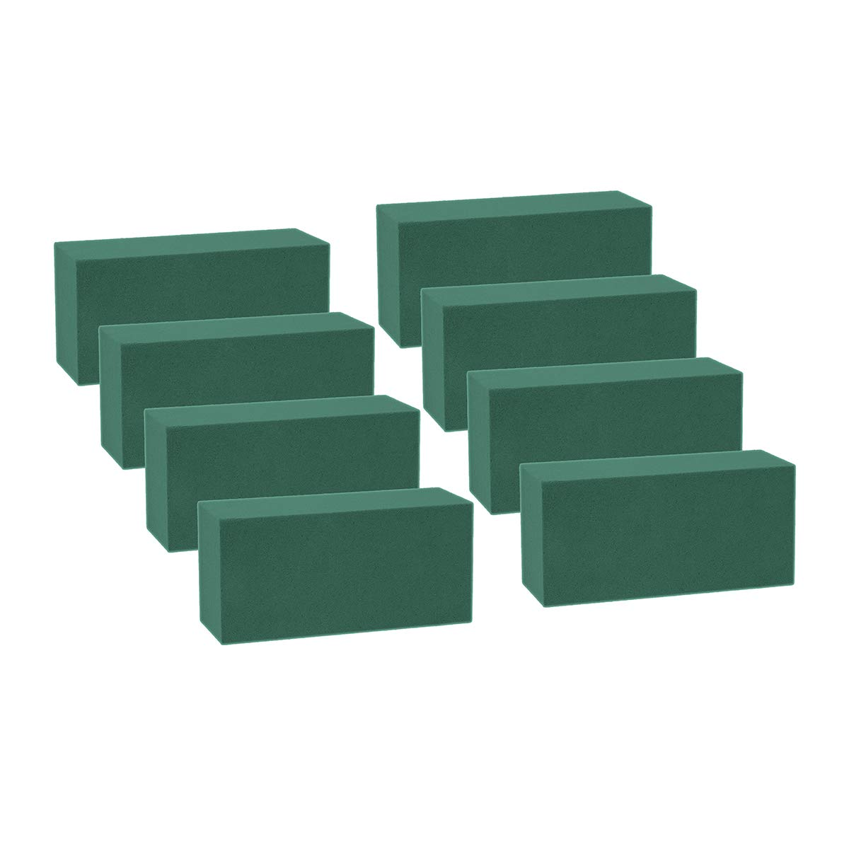 Wei Shang 8 Pezzi Mattoni Blocchi Spugna Floreale Verde di polistirolo per Fresh Cut composizioni Floreali Applicate a Secco o Bagnato
