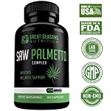 Saw Palmetto Supplement for Prostate Health - Non-GMO, 120 Capsules, Extract and Berry Powder Complex for Promoting Healthy Urination Frequency & Flow