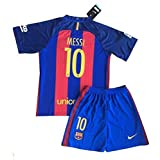 2016/2017 New Messi #10 FC Barcelona Home Jersey & Shorts for Kids/Youth (9-10 Years Old)