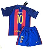 New 2017 Messi #10 Barcelona Home Jersey & Shorts for Kids and Youths (11-13 Years Old)