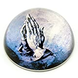 Parastone Praying Hands of Apostle Christian Faith Glass Paperweight by Albrecht Durer 3W