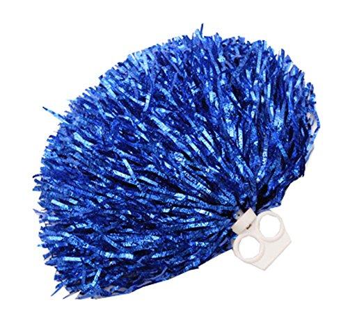 Cheerleading et Pom Poms plastique feuille bleu 2 en PCS métallique anneau wPnzBxfU7q