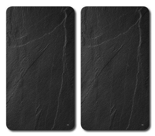 Kesper 3652313 Multi-Glasschneideplatte, 2-er Pack, Motiv: Schiefer, Maße: 52 x 30 x 1.2 cm