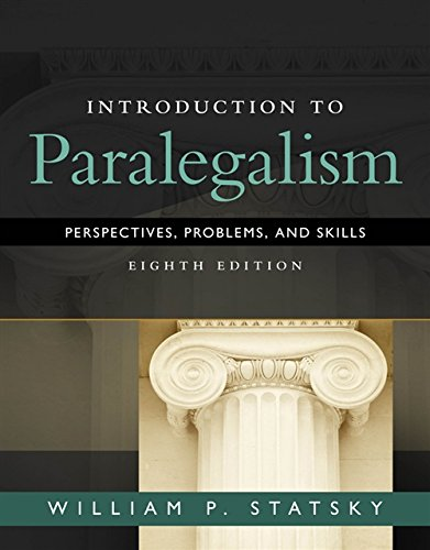 - Introduction to Paralegalism: Perspectives, Problems and Skills