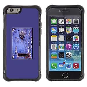 Suave TPU GEL Carcasa Funda Silicona Blando Estuche Caso de protección (para) Apple Iphone 6 / CECELL Phone case / / Purple Rustic Door Mailbox Paint Peeling /