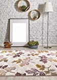 5791 Floral Cream Leaves 5 x 7 Area Rug Carpet Large New