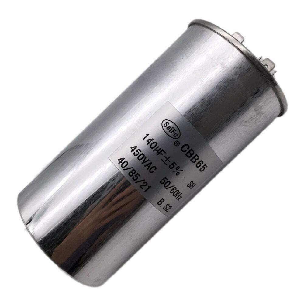 ALLMOST CBB65A Run Capacitor 450V 250VAC 250V AC 140uF 140 uF 140MFD SH P1 50//60Hz UL Listed