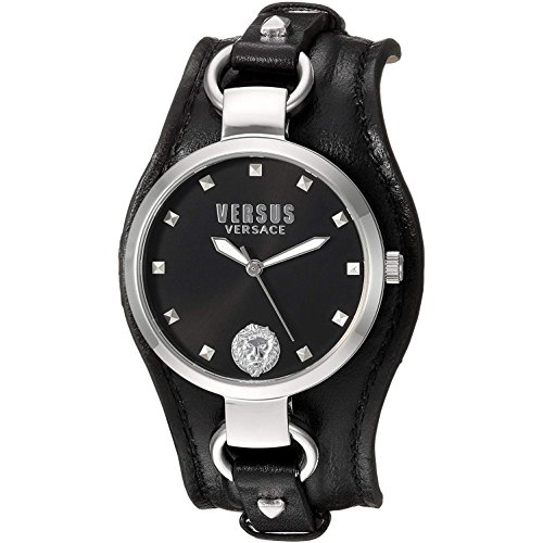 Versus by Versace Women's 'ROSLYN' Quartz Stainless Steel Casual Watch, Color:Black (Model: SOM100016)