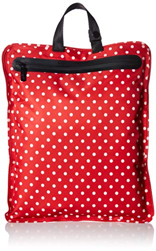 JuJuBe Be Dry Premium Water Resistant Wet Bag, Onyx Collection - Black Ruby - Red/White Polka Dots